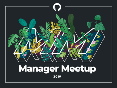 Manager meetup branding grow nature event branding event summit logo design illustration leaves github