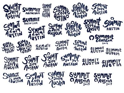 Summit Logo Explorations logos logo design explorations sketches sketch logo summit github