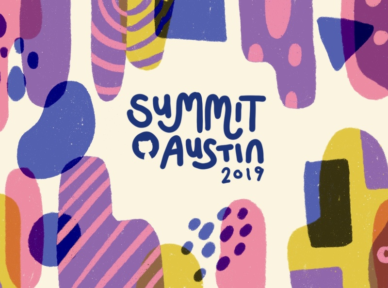GitHub Summit 2019 Exploration 1 ocotcat texture conference summit pattern branding github