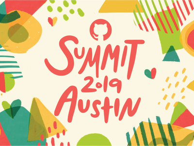 GitHub Summit 2019 Final! texture branding design conference pattern summit branding github
