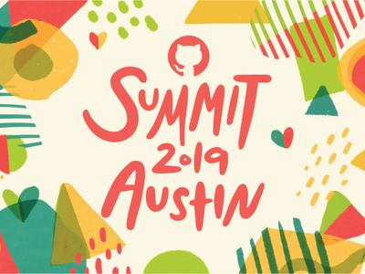 GitHub Summit 2019 Final! texture branding design conference pattern summit branding github