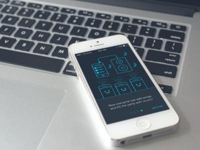 Qup Music App –Onboarding qup music app onboarding blue songs