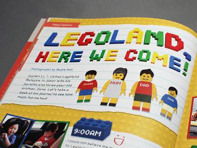 Legoland magazine layout toy color magazine lego legoland