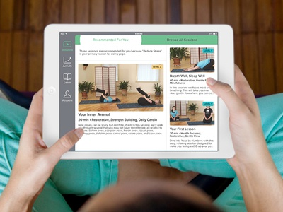 Yoga by Numbers – Recommended Screen app ui ios exercise ipad recommended video yoga