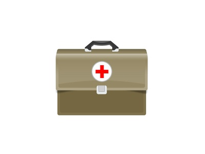 Medic Bag icon vector medical cross hospital doctor bag