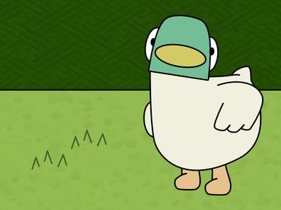 Duck affinity designer bbc cartoon duck illustration sarah and duck