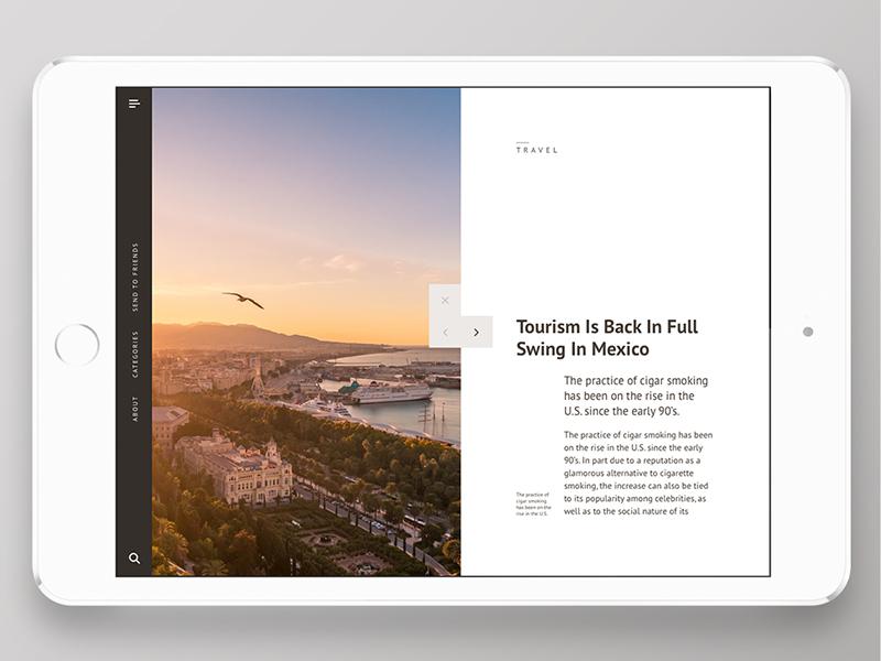 Articolo Ipad app | read ui ipad app interface design articles