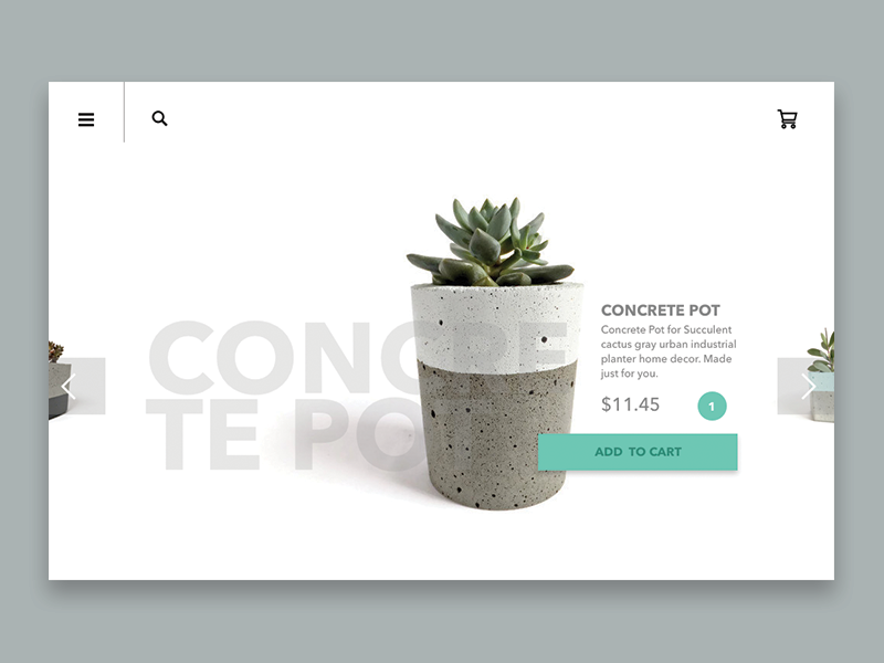 Shopping Concept products shopping interface design ui