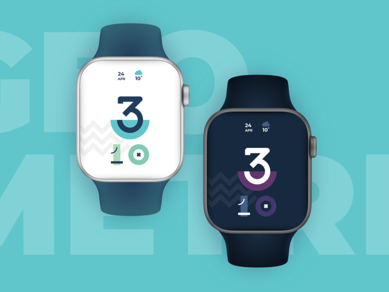 Geometric Apple Watch clock concept watchos vector time clock apple watch interface design interface concept ui