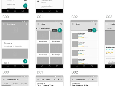 Material Design Wireframe Kit material design ux ui flat clean android sketch freebie free wireframe