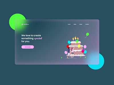 Transparent Web UI trending web design