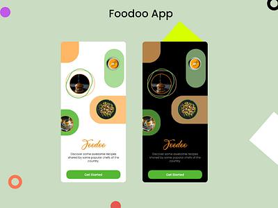 Foodoo App modern design minimal ui simple ui mobile app ui food app ui