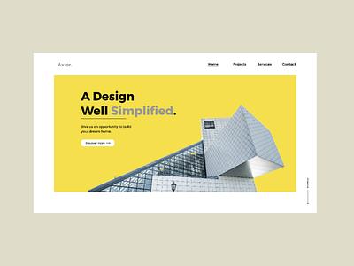 Simple Web UI modern design landing page design web design minimal ui simple web ui