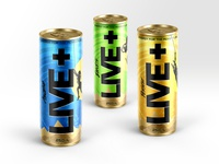 Live+ | Energy Drink Brand Identity, Packaging & Copy