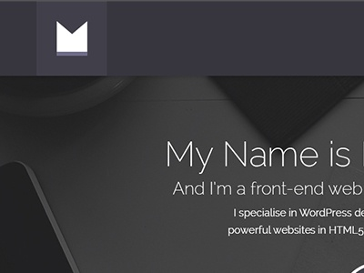 My Web Portfolio web portfolio first design