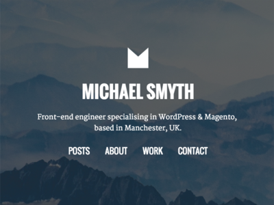 New portfolio site I'm working on freelancer homepage parallax web portfolio design