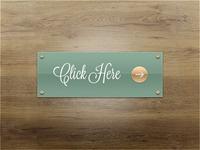 Fancy Plaque Button