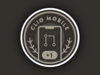 Clio mobile contributor sticker