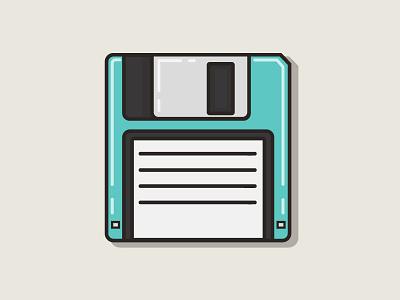 Floppy Disc floppy tech retro iconography illustration icon