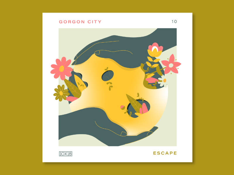 10X18 – 10. Gorgon City, Escape hands gorgon city escape illustration music album cover 10x18