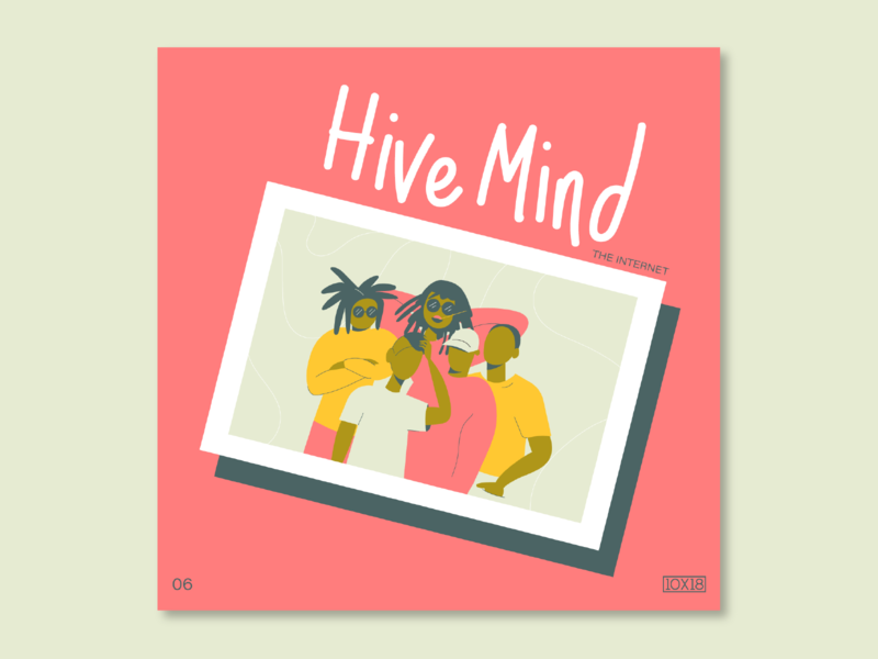 10X18 – 6. The Internet, Hive Mind nostalgic the internet band group character illustration album art album cover music 10x18