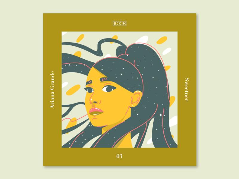 10X18 – 3. Ariana Grande, Sweetener character galaxy woman portrait ariana grande music album cover album illustration 10x18