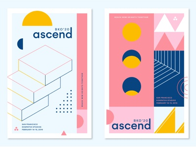 Ascend Promo Posters event line geometric conference poster pattern ascend asana