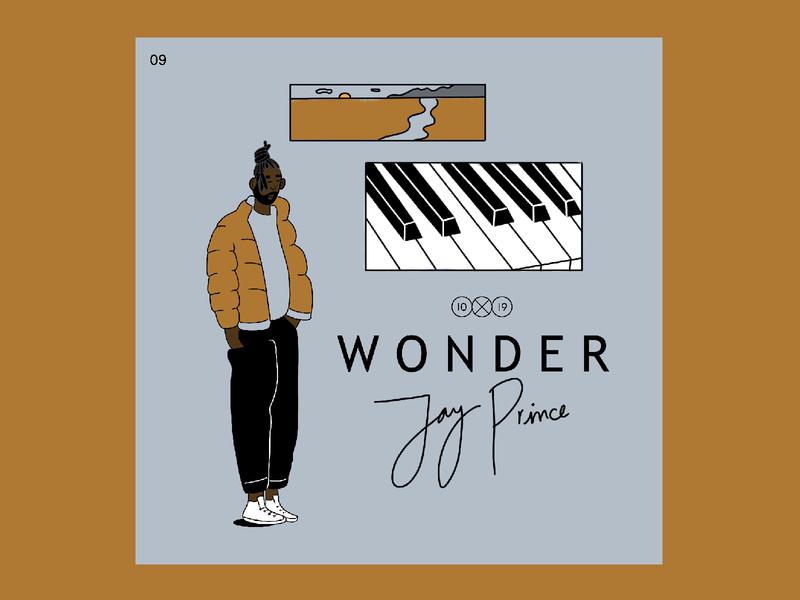 10X19 | 9. Jay Prince, Wonder procreate ipadpro hiphop piano design character album cover album art 10x19 illustration
