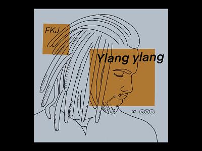 10X19 | 7. FKJ, Ylang Ylang musician fkj album covers album art procreate ipadpro 10x19 design character illustration