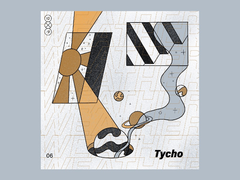 10X19 | 6. Tycho, Weather weather tycho procreate ipadpro album cover album art 10x19 texture abstract illustration