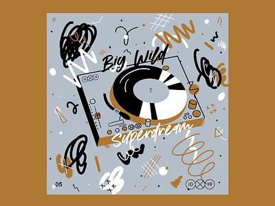 10X19 | 5. Big Wild, Superdream music procreate ipad pro album art edm big wild album cover 10x19