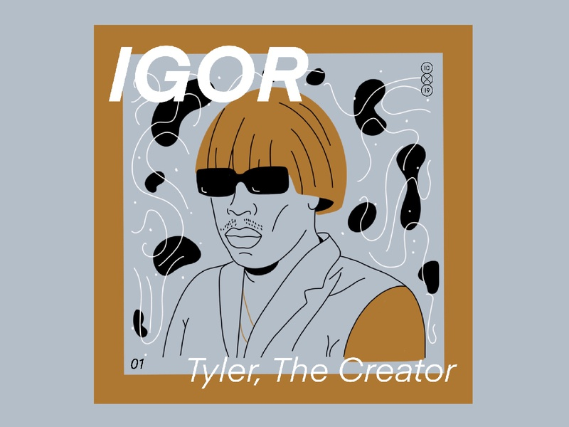 10x19 | 1. Tyler the Creator, Igor 10x19 music album art album cover procreate ipadpro igor tyler the creator design character line illustration