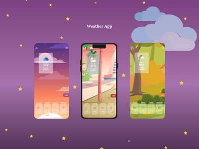 Weather App ux ui uxreserch uiinspiration weather app