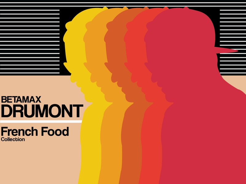 French Food Collection web betamax vector illustration design