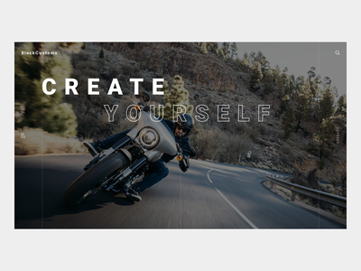 BlackCustoms - Motorcycle Landing Page ux ui landing page custom bike bike moto motorbike motorcycle