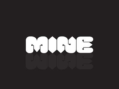 Mine a typography typogaphy typography logo