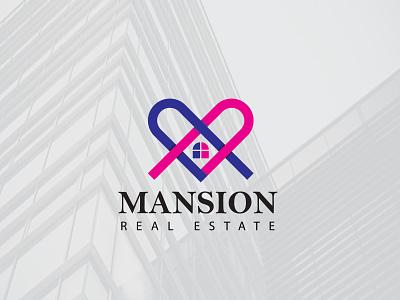 Mansion a realestate company unsold logo abstract abstract logo abstractlogo logodesign logo designer logo design logo