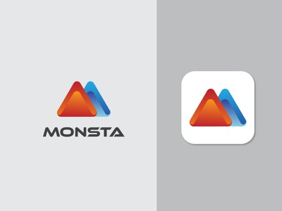 Monsta a financial company logo financial logo branding modern logo abstract abstract logo abstractlogo logodesign logo designer logo design logo