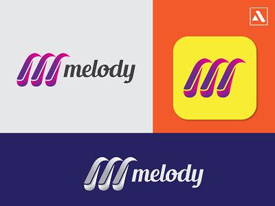 Melody modern m letter logo music branding modern logo abstract abstract logo abstractlogo logodesign logo designer logo design logo m letter logo