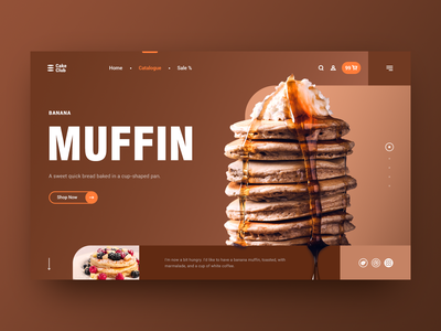 Food Poster(#01 Shots for Practice) layout poster baner muffin food web ui graphicdesign design