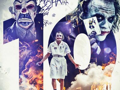The Dark Knight's 10th Anniversary Poster Series fandom the joker batman dccomics dc comic books superheroes superhero photomanipulation