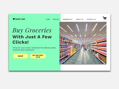 Shop-Tap logo ecommerce typography minimal branding web