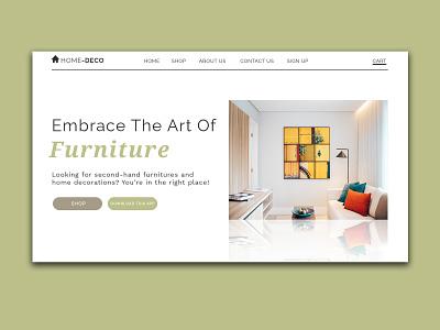 Home Deco - ver. 2 app ecommerce app branding typography minimal design web