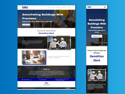 Demolition Management Group responsive web design wordpress typography minimal website