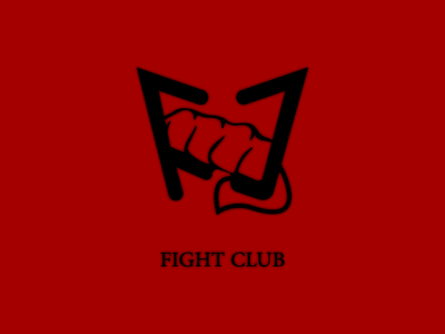 Fight Club Logo vector branding graphic design logo design design art movie art illustration art art graphicdesign logodesign fist fight illustraion design graphic brad pitt movie logo fightclub