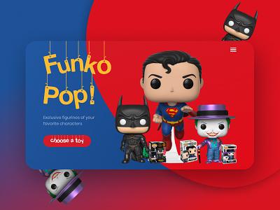 Re-design of FunkoPop! shop figma web design dc toy hero firstshot dribbble best shot comics marvel web ux ui design webdesign figmauxuiwebdesigndribbledesign
