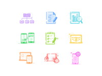 UX icons visual design information architechture data analysis icon pack prototyping wireframing design process icon illustrations line icons ui design ui ux process ux icons ux icons
