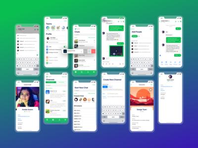 Flock - Chat App Design for iOS App