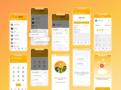 Ringo iOS App Design- Calling App