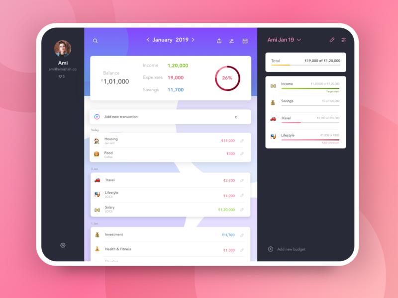 Budget Planner for Desktop app cross platform expenses ipad tablet desktop budget planner